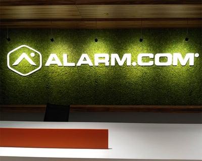 Alarm.com - Interior Logo Display on Living Wall