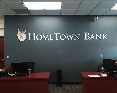 Hometown Bank - Interior Logo