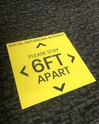 Social Distancing Floor Sign-1