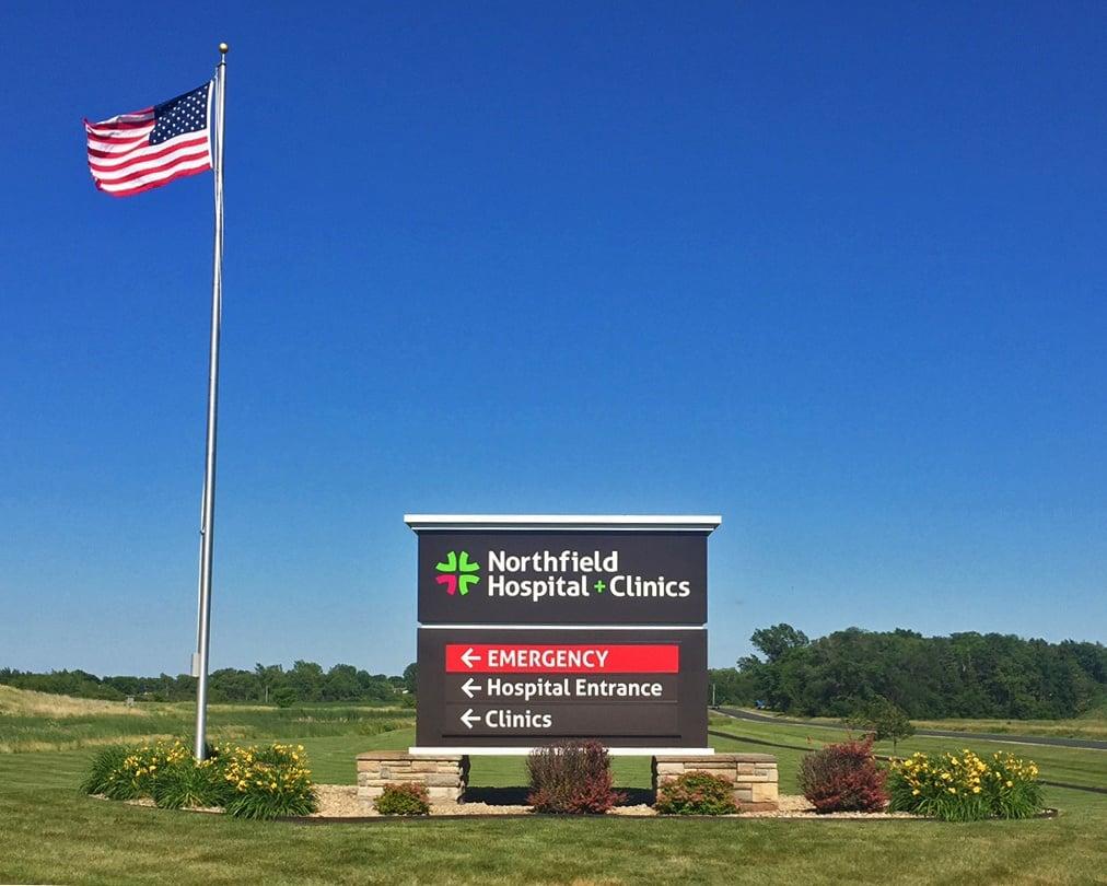 Monument Sign - Northfield Hospital