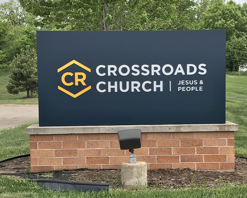 Crossroads Church Sign After Renovation