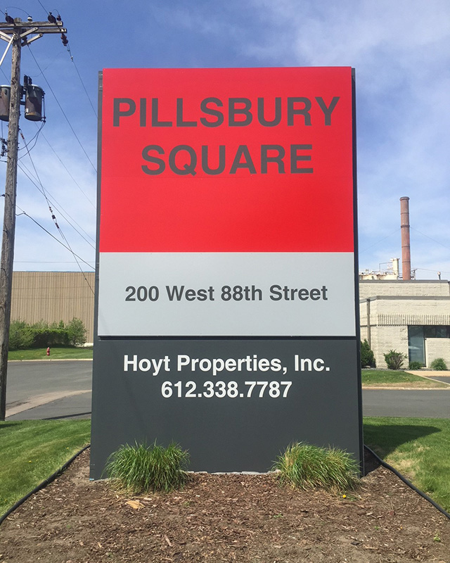 Hoyt Properties Sign After Renovation