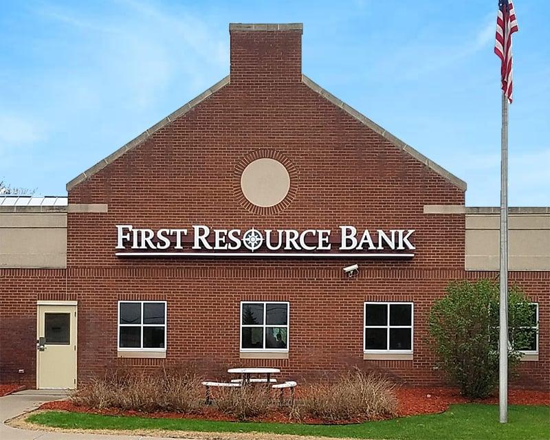 First Resource Bank Raceway Letter Set