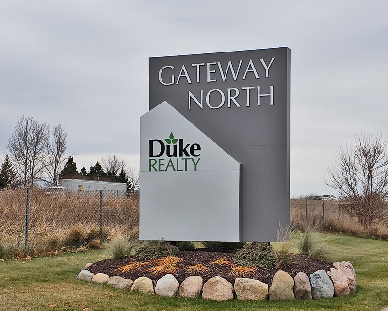 Duke Gateway North Monument example