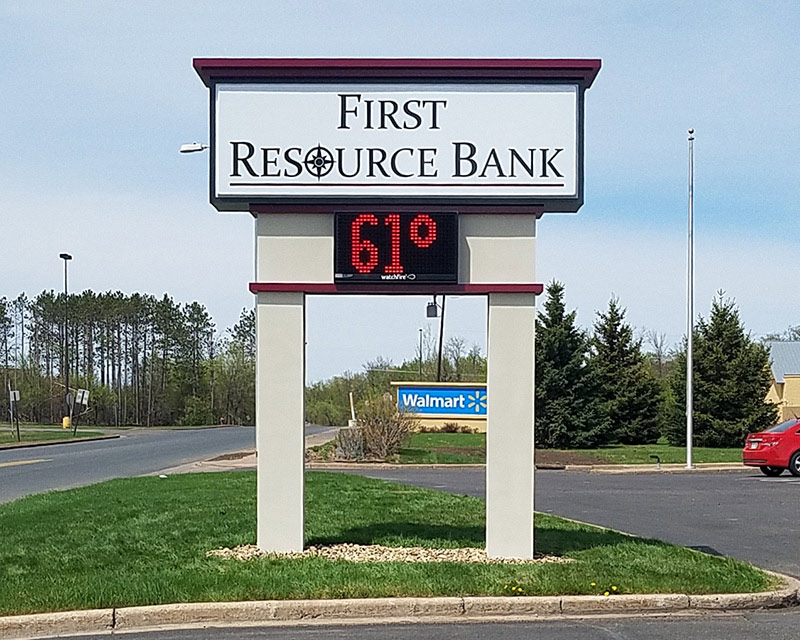 First Resource Bank Pylon Sign Example