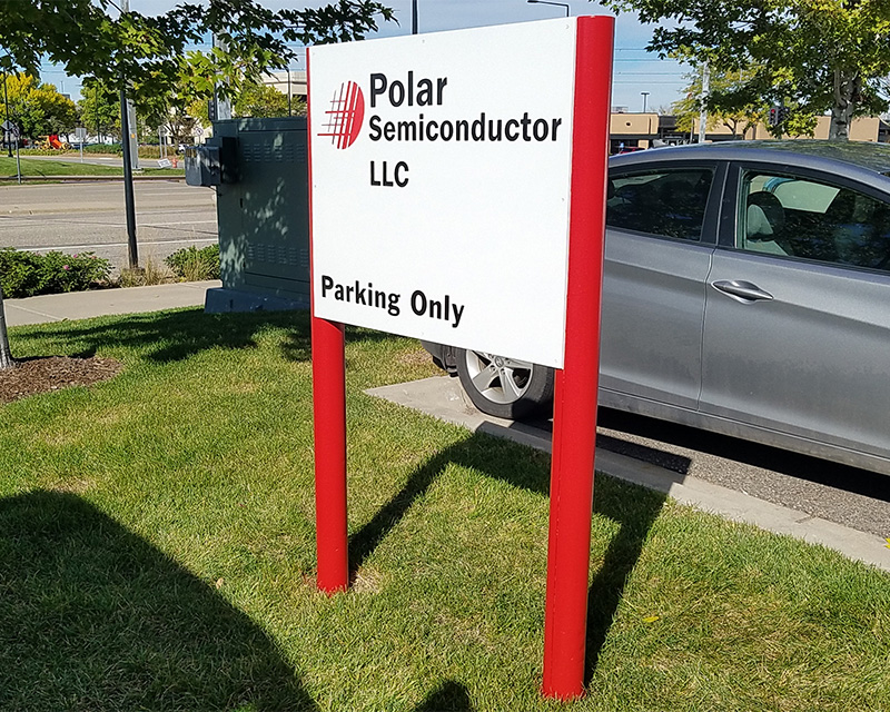 Polar Semiconductor Information Sign