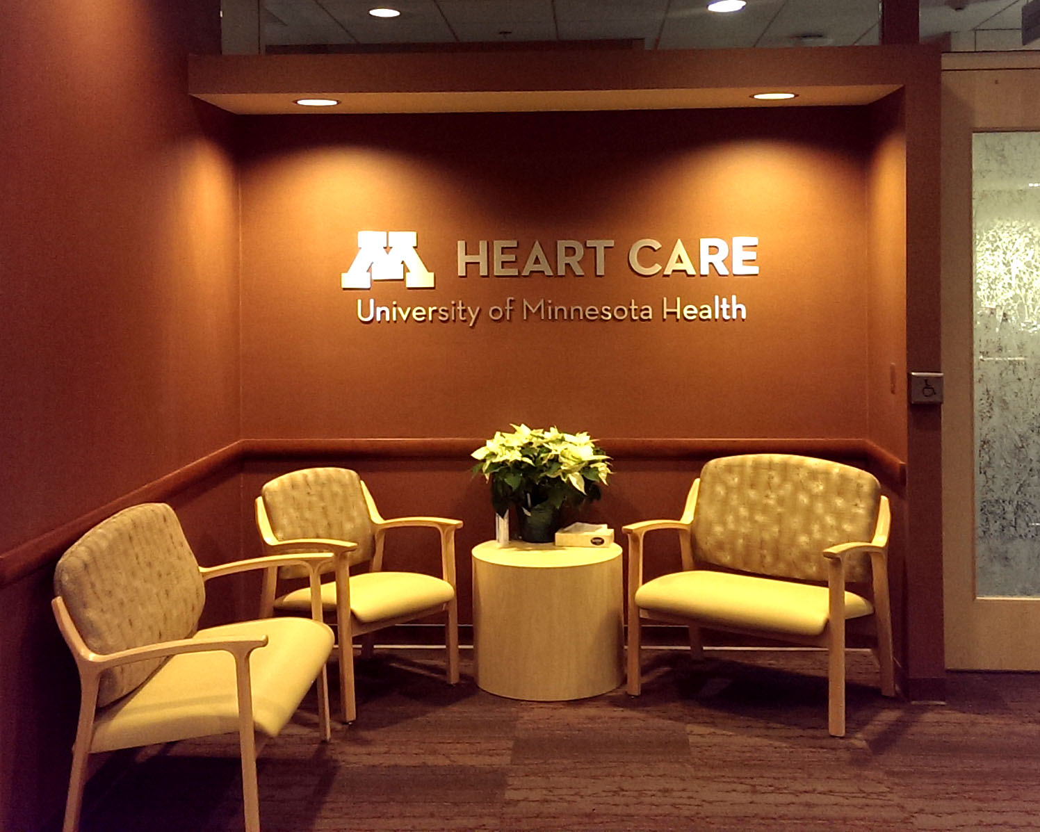 Example of interior medical signage