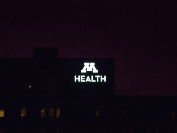 Example of LED lighting used in medical signs