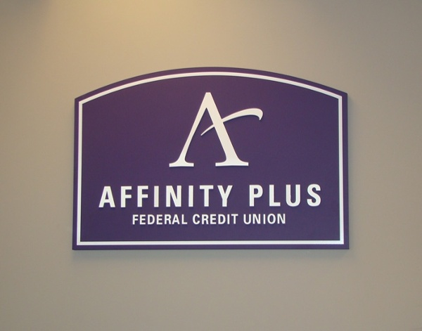 Example of custom logo signs from Spectrum Signs