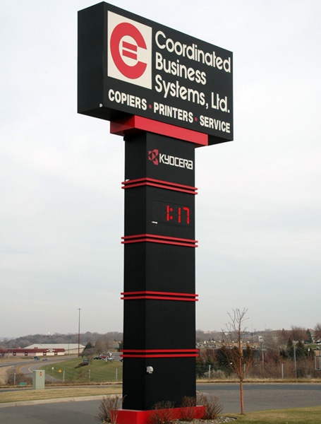 Coordinated Business Systems pylon sign