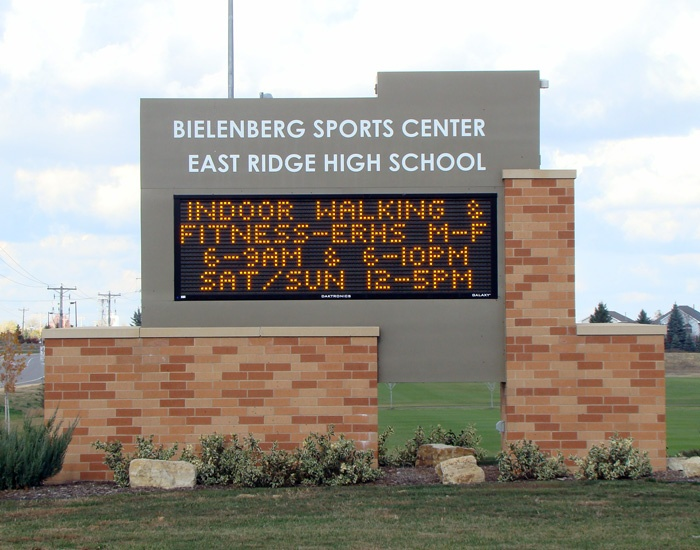 Example of school LED message center from Spectrum Signs