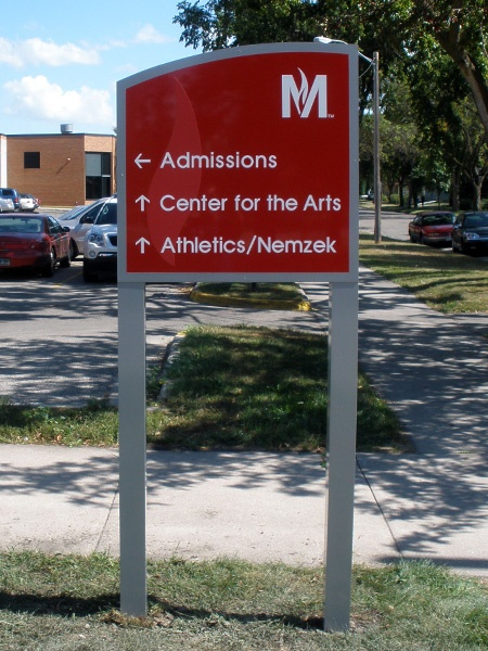 Example of school wayfinding signage designed by Spectrum Signs