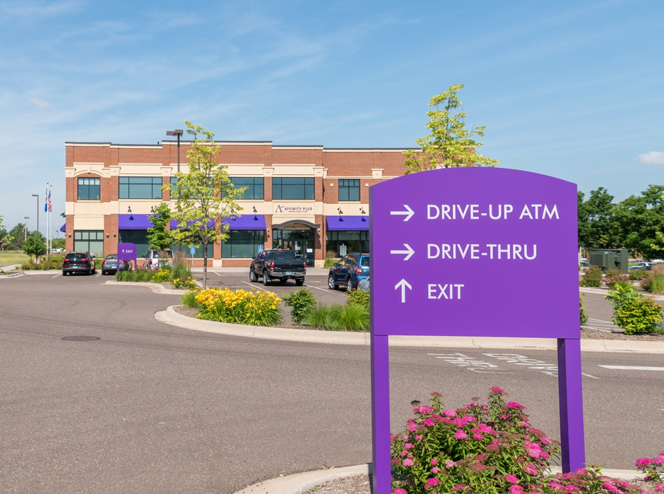 Affinity Plus Federal Credit Union Wayfinding Sign