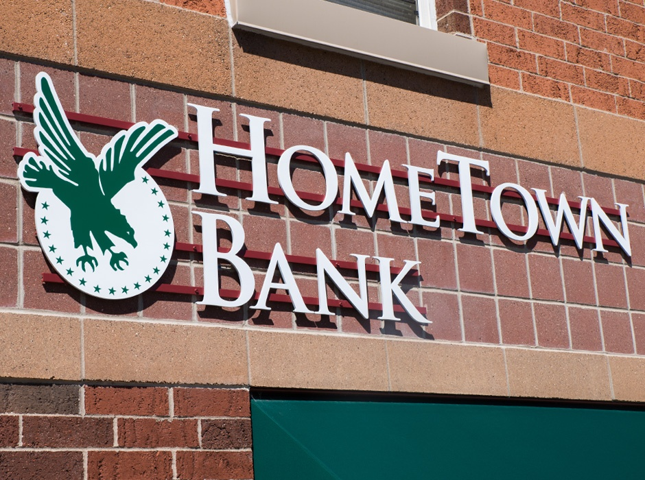 Home Town Bank Industrial Sign