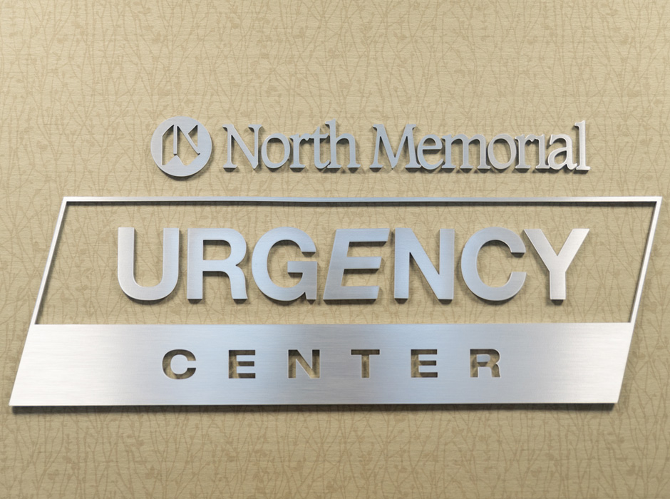 North Memorial Urgency Center Wall Plaque