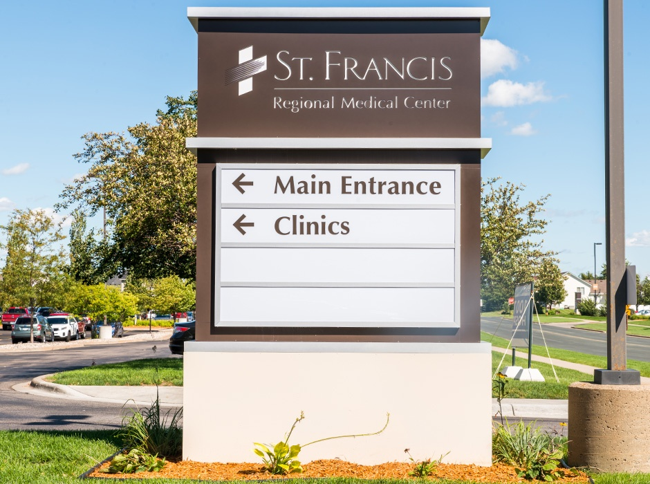 St. Francis Regional Medical Center Directional Monument Sign