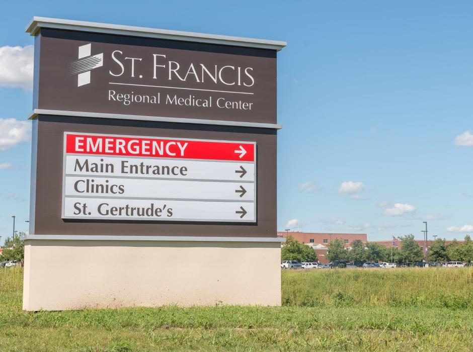 St Francis Regional Medical Center Directional Sign