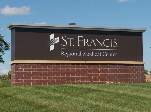 St. Francis Regional Medical Center Monument Sign