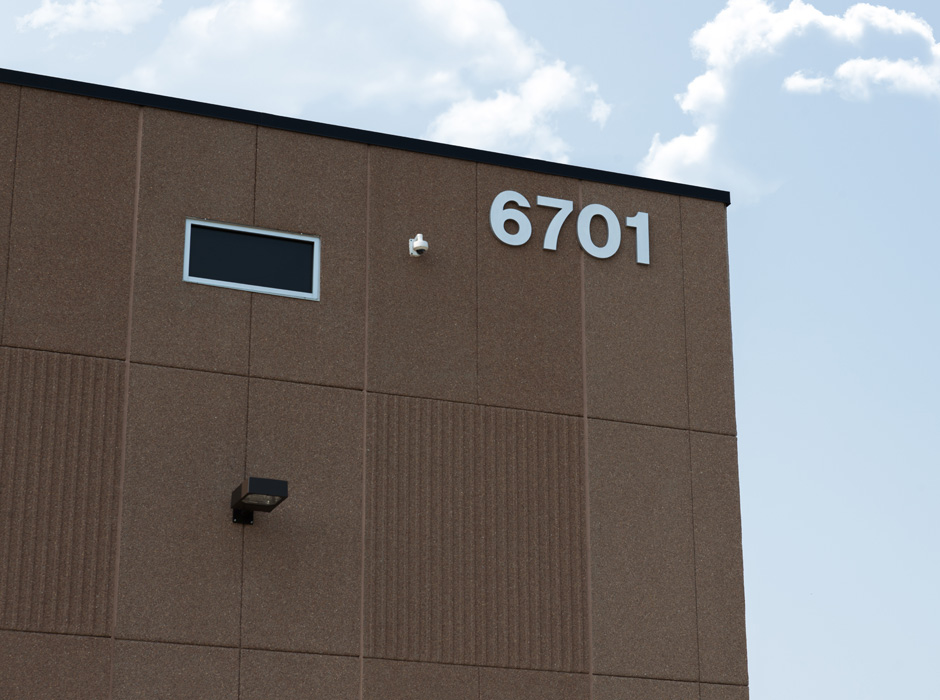 Example of industrial exterior building signs by Spectrum Signs