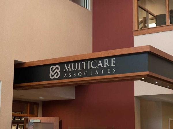 Multicare Associates custom medical office signs