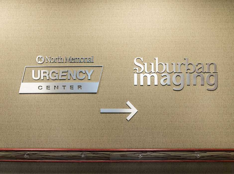 Example of interior wayfinding signage