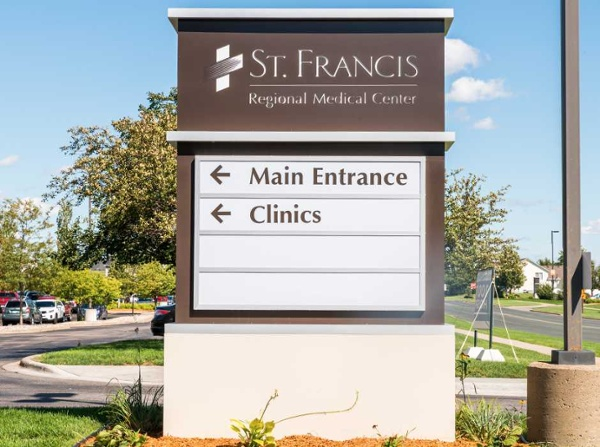 Example of ideas for a healthcare monument sign