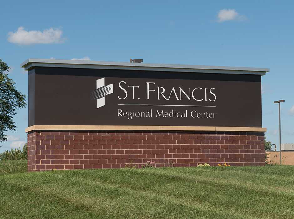 St. Francis Regional Medical Center monument sign