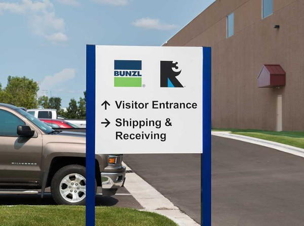 Example of custom wayfinding signs for industrial industry