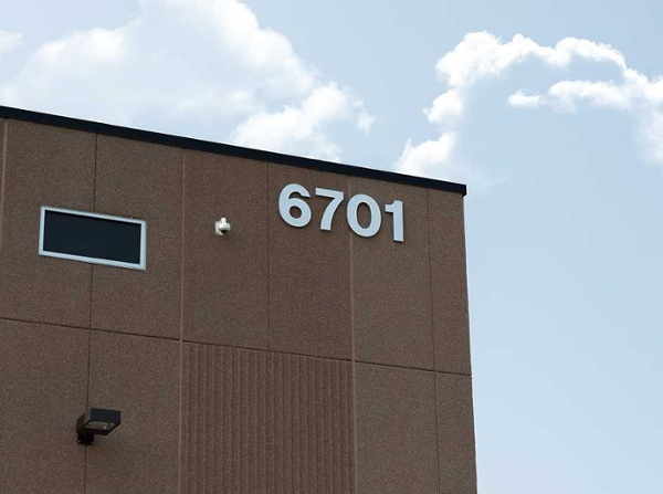 Example of industrial building sign ideas