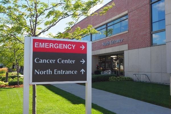 Custom wayfinding hospital signs