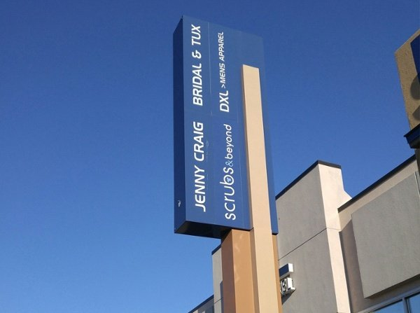 Example of custom retail signage installed by Spectrum Signs