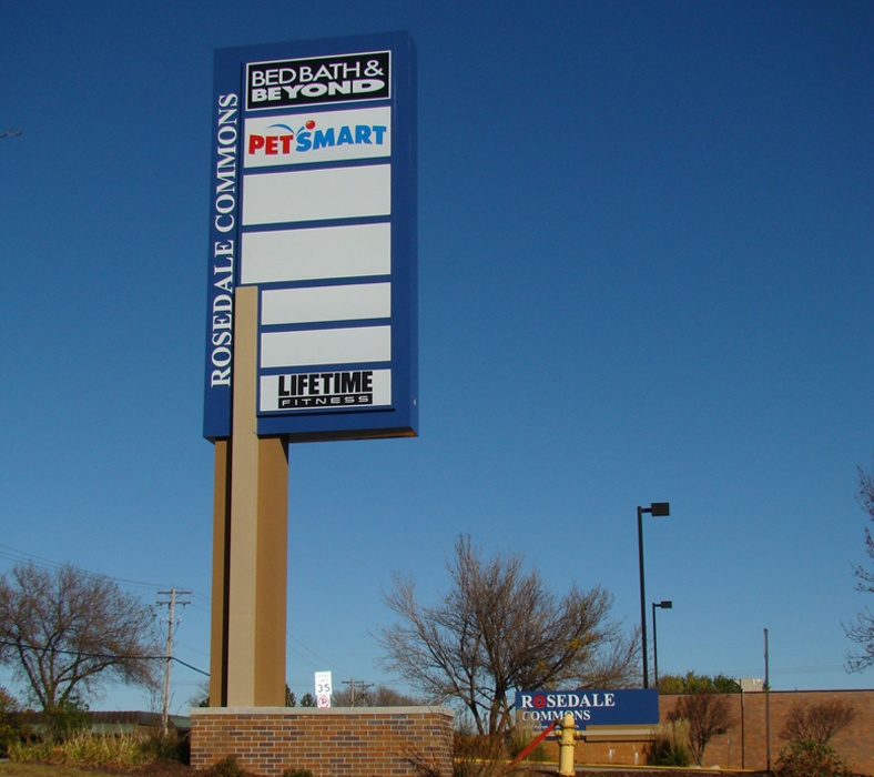 Example of a custom pylon sign